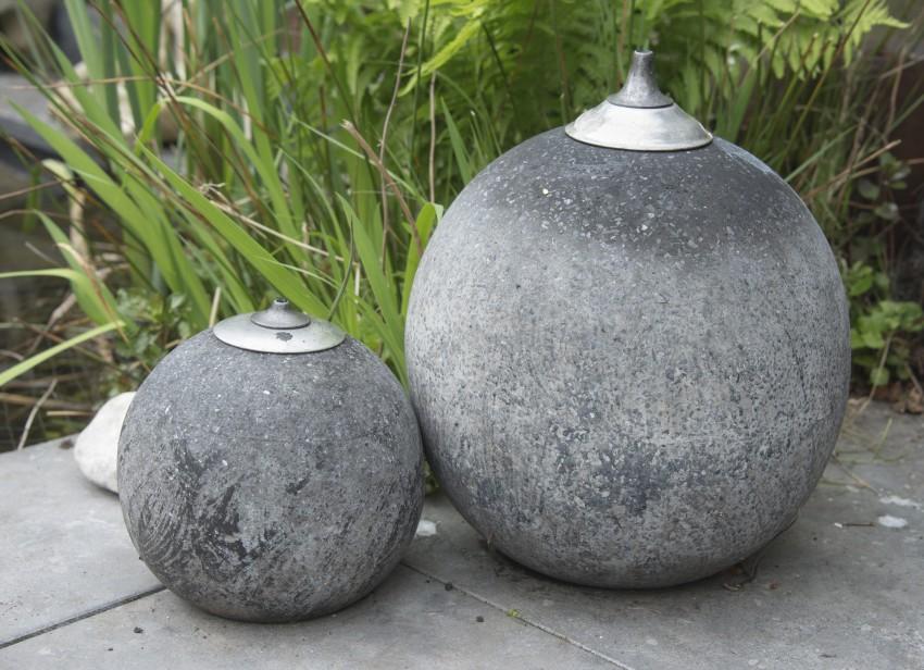 Dekoracyjne kule - lampy z betonu