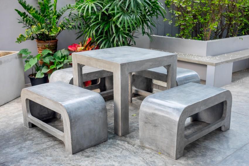 meble ogrodowe z betonu architektonicznego