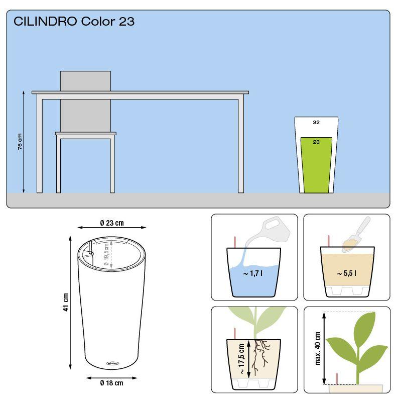 wymiary donicy cilindro 23