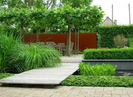 przesłona w ogrodzie ze stali corten