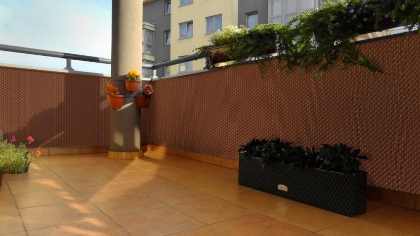 osłona balkonu z technorattanu