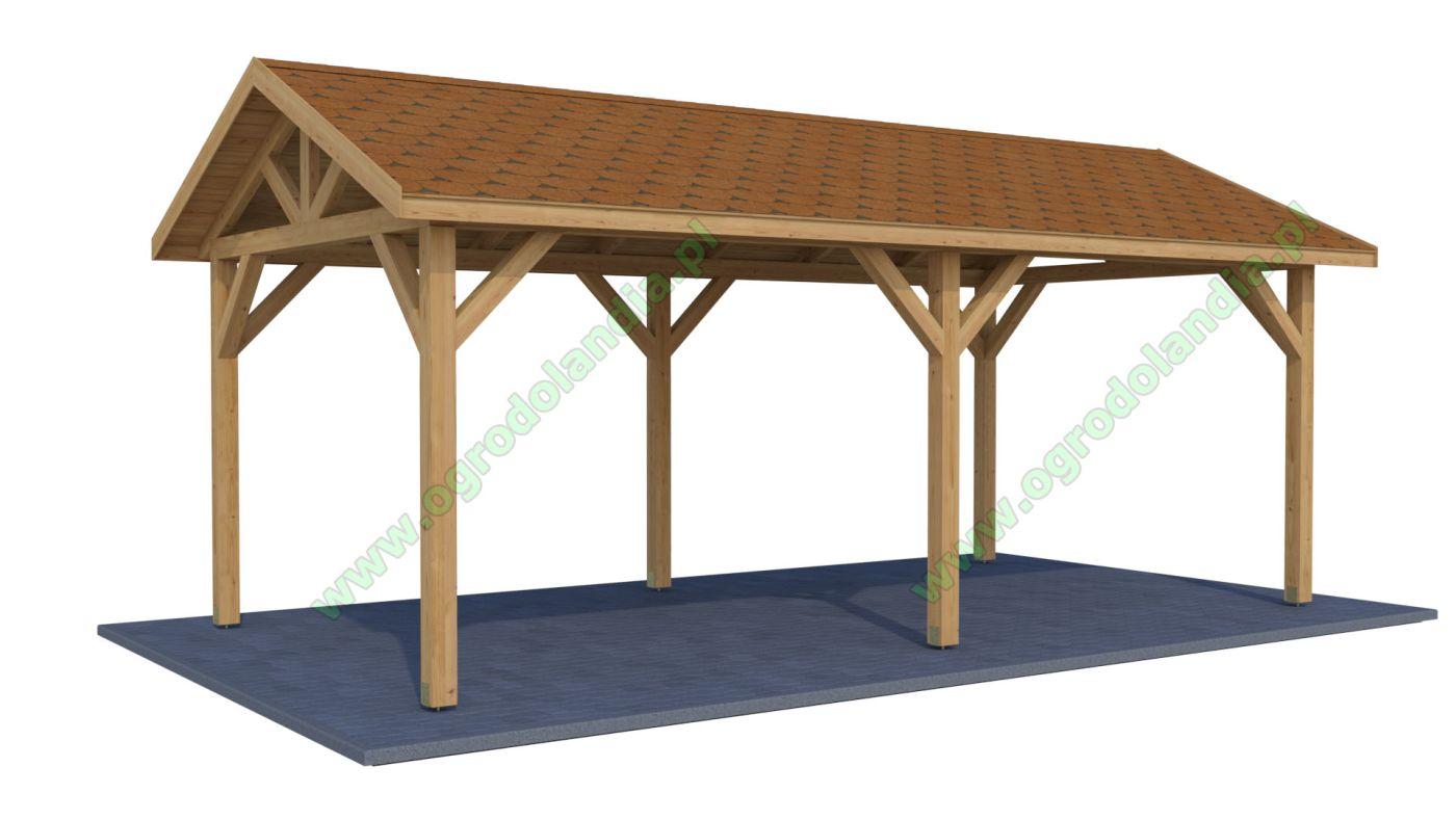 Drewniane Wiaty Garażowe Samochodowe Ogrodolandiapl
