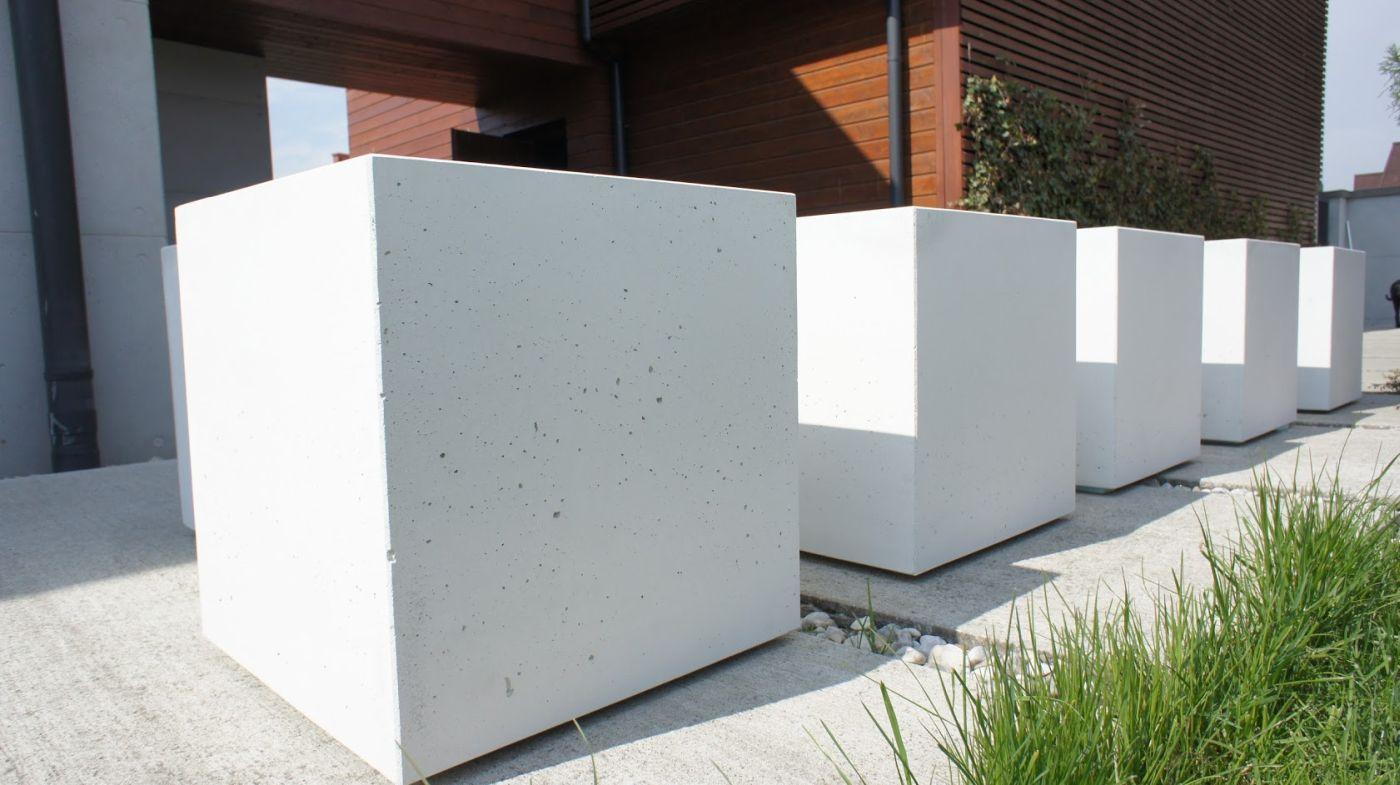 Donica Z Betonu Architektonicznego 50x50x50cm H