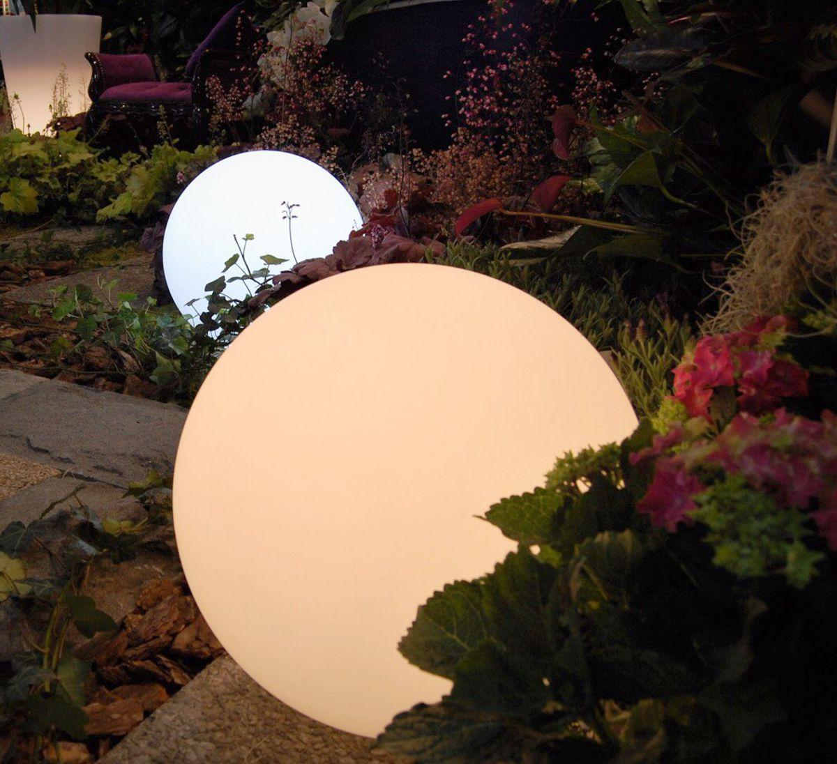 lampy w ksztalcie kule do ogrodu